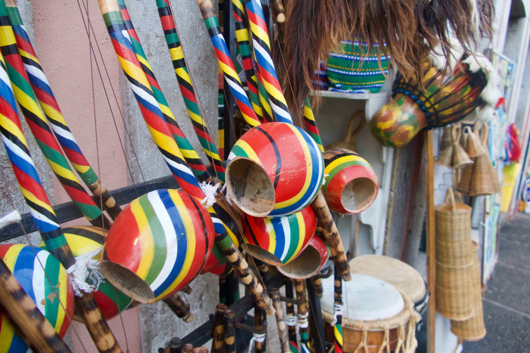 Brazil Salvador Colourful Music Instruments