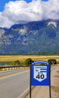 Argentina ruta 40 road canva