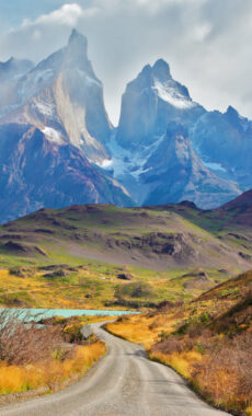 Chile torres del paine cuernos road adobe stock