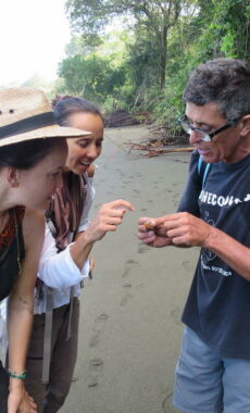 Costa rica osa peninsula corcovado national park hermit crab guide copyright pura aventura thomas power