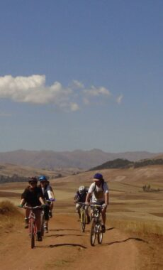 Peru sacred valley group mountain biking
