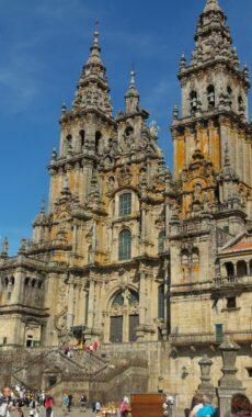 Spain camino de santiago santiago plaza obradeiro cathedral facade