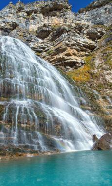 Spain huesca pyrenees ordesa coladecaballo waterfall c lunamarina