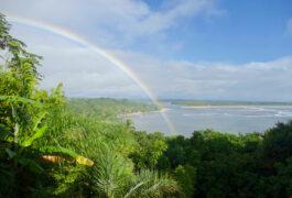 Brazil Boipeba Rainbow over the Island View