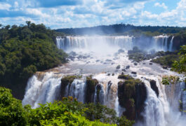 Argentina iguassu iguassu falls is the largest series of waterfalls on the planet located in brazil argentina and paraguay