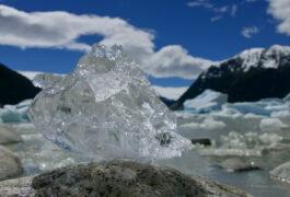 Chile patagonia carretera austral neff glacier ice block