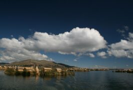 Peru lake titicaca uros floating islands rich blue sky