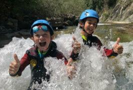 Spain pyrenees family canyoning ordesa happy kids c senderos ordesa