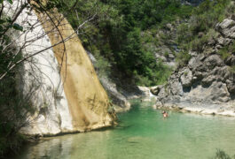 Spain pyrenees huesca ainsa summer family rivers pools swimming c diego