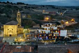 Spain rioja camino hotel viura façade church c viura