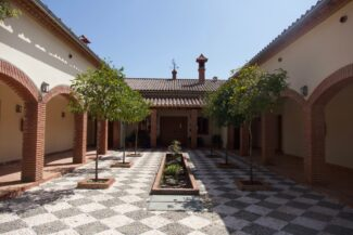 Spain andalucia alajar finca la fronda courtyard
