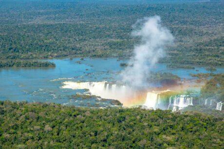 Brazil iguazu general view with rainbow guenter purin