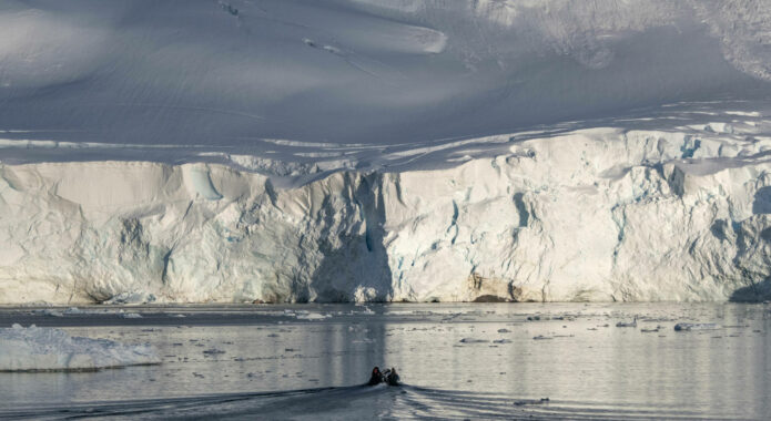 Antarctica peninsula paradise bay zodiacc diego