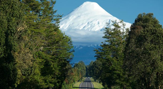 Chile lake district osorno road canva