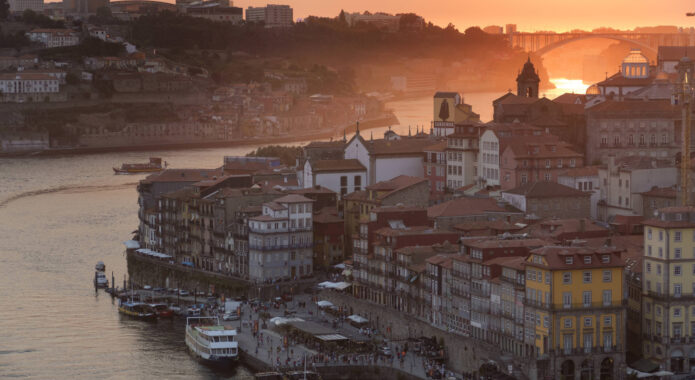 Portugal porto sunset