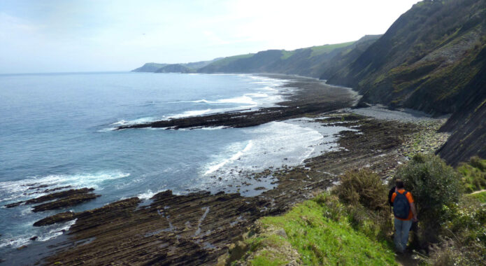 Spain basque country inn to inn zumaia flysh cliff camino 2