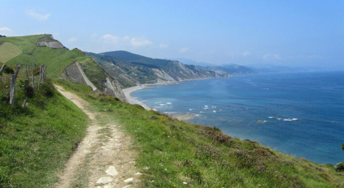 Spain basque inn to inn camino del norte zumaia cliffs trail