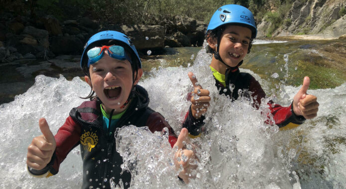Spain pyrenees family canyoning ordesa happy kids c senderos ordesa