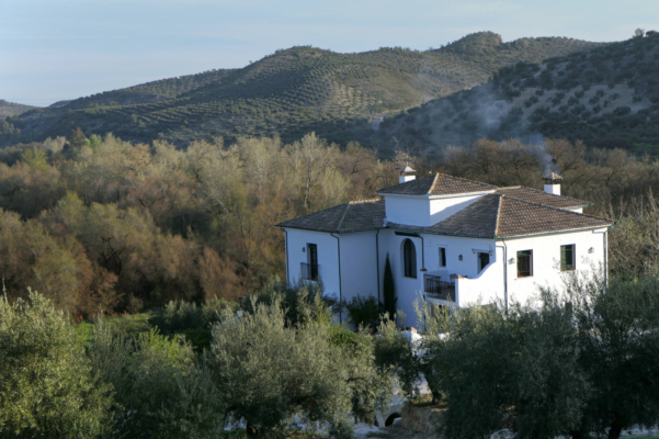 Spain andalucia cordoba subbetica casa olea close up smoking chimney c diego