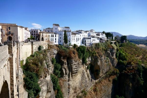 Spain andalucia ronda viewpoint over tajo gorge
