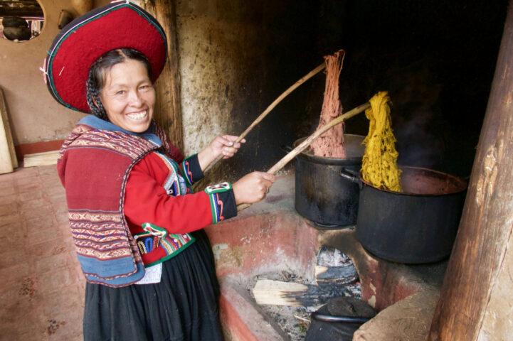 Smiling weaver