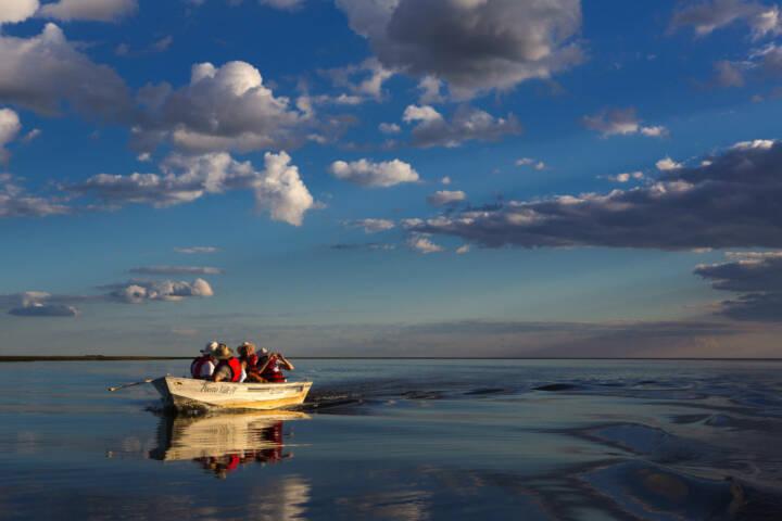 Argentina ibera hotel puerto valle lake boat ride
