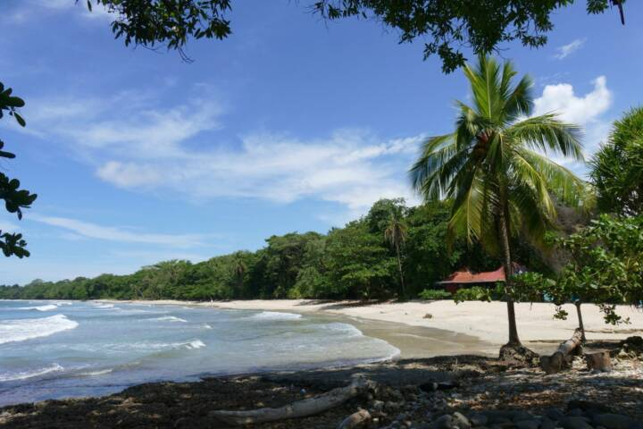 Costa rica caribbean cahuita national park entrance
