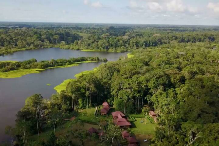 Ecuador amazon eden lodge from above c eden