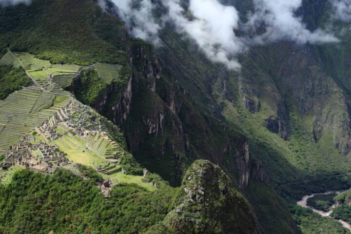 Peru machu picchu incan ruins of machu picchu