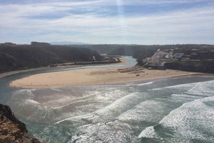 Portugal alentejo costa vicentina odeceixe village and beach from ponta em branco