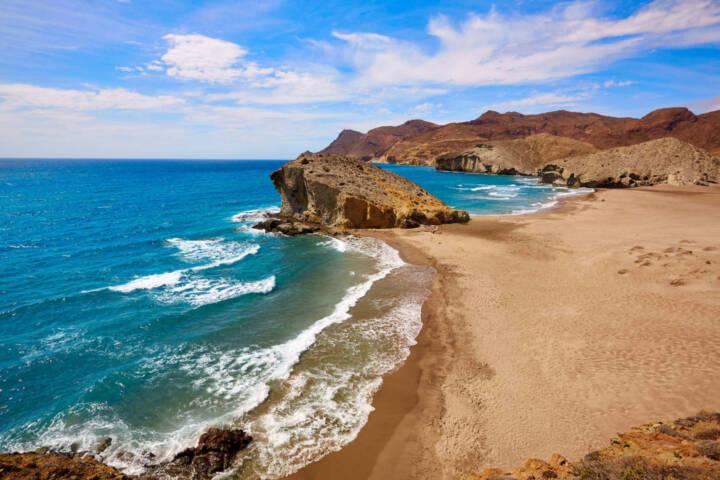 Spain andalucia almeria playa del monsul beach at cabo de gata in spain