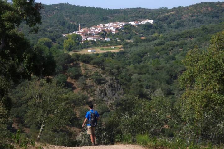 Spain andalucia aracena hills approaching valdelarco