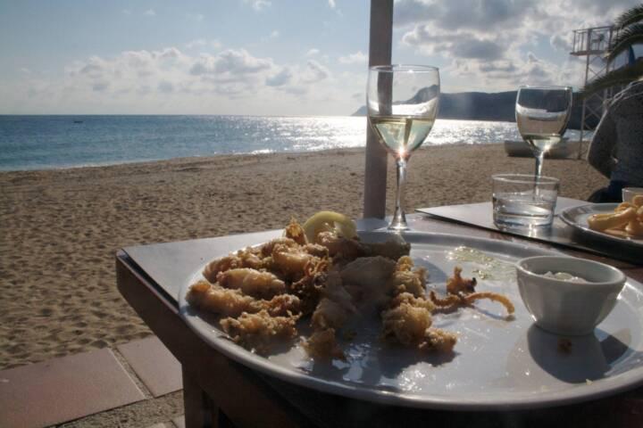 Spain andalucia cabo de gata agua amarga lunch