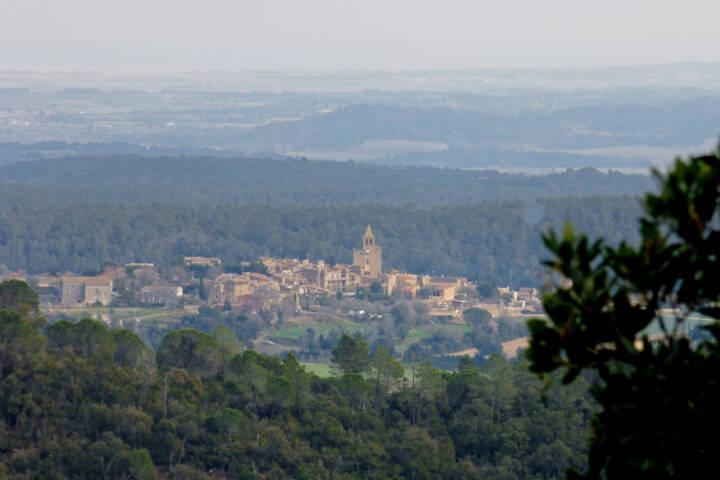 Spain catalonia girona empurda arriving to madremanya