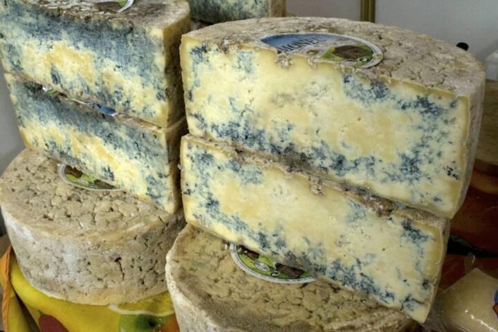 Spain picos de europa gamoneu cheese stacks