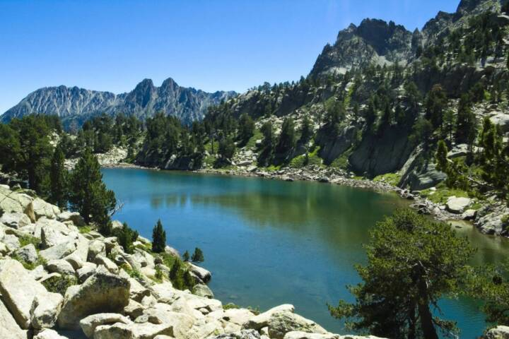 Spain pyrenees aigues tortes high mountain lake jaime lahoz