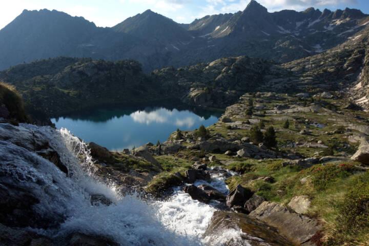 Spain pyrenees catalonia aiguestortes summer waterfall c diego pura