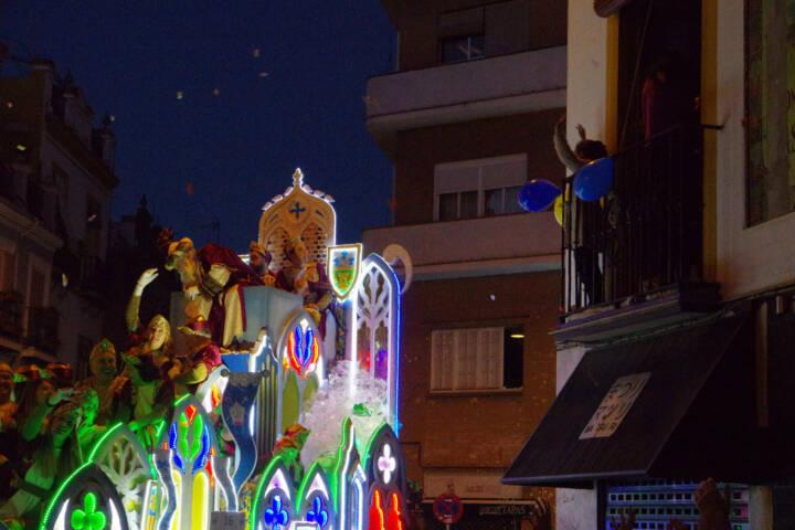 Spain seville three kings parade chris 2