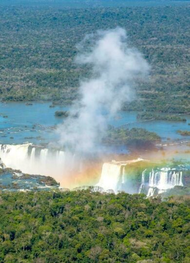 Brazil iguazu general view with rainbow guenter purin