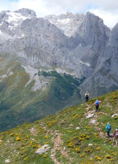Spain cantabria liebana picos inn to inn day 5 spring valdeon pass hikers 9 c diego