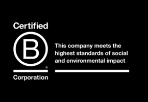 B Corporation black background