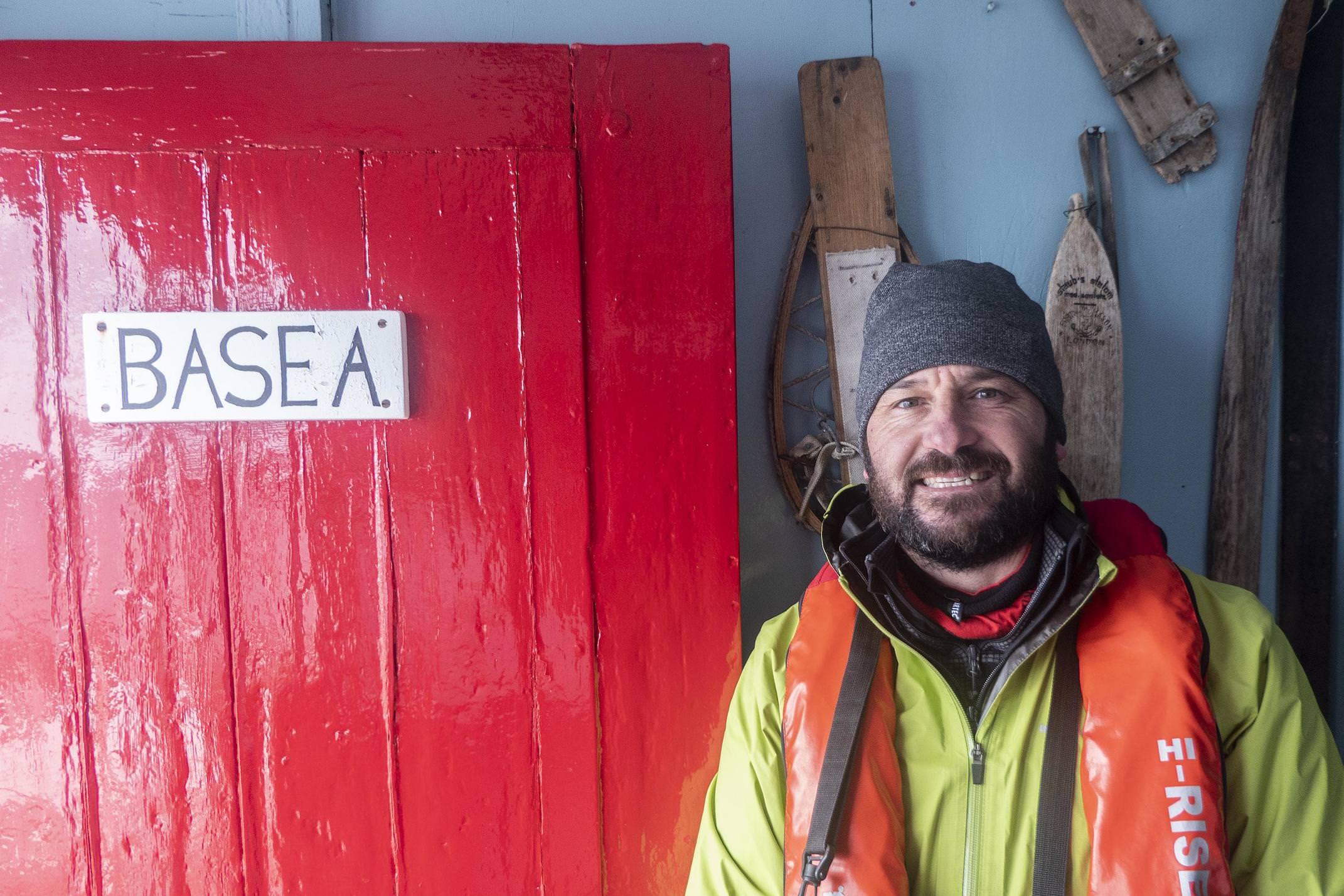 Antarctica peninsula lockroy station diego portrait