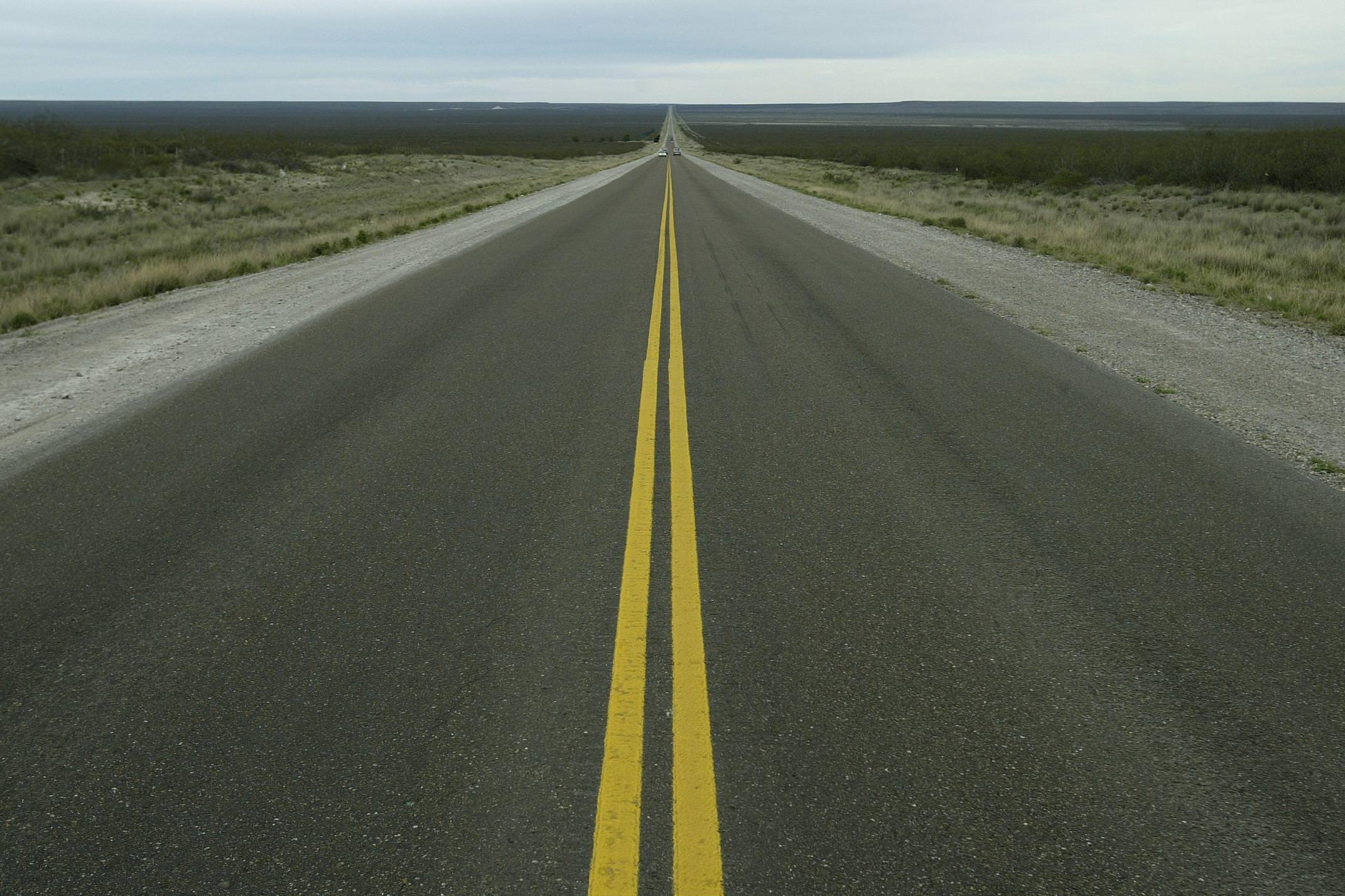 Argentina valdes peninusla endless road