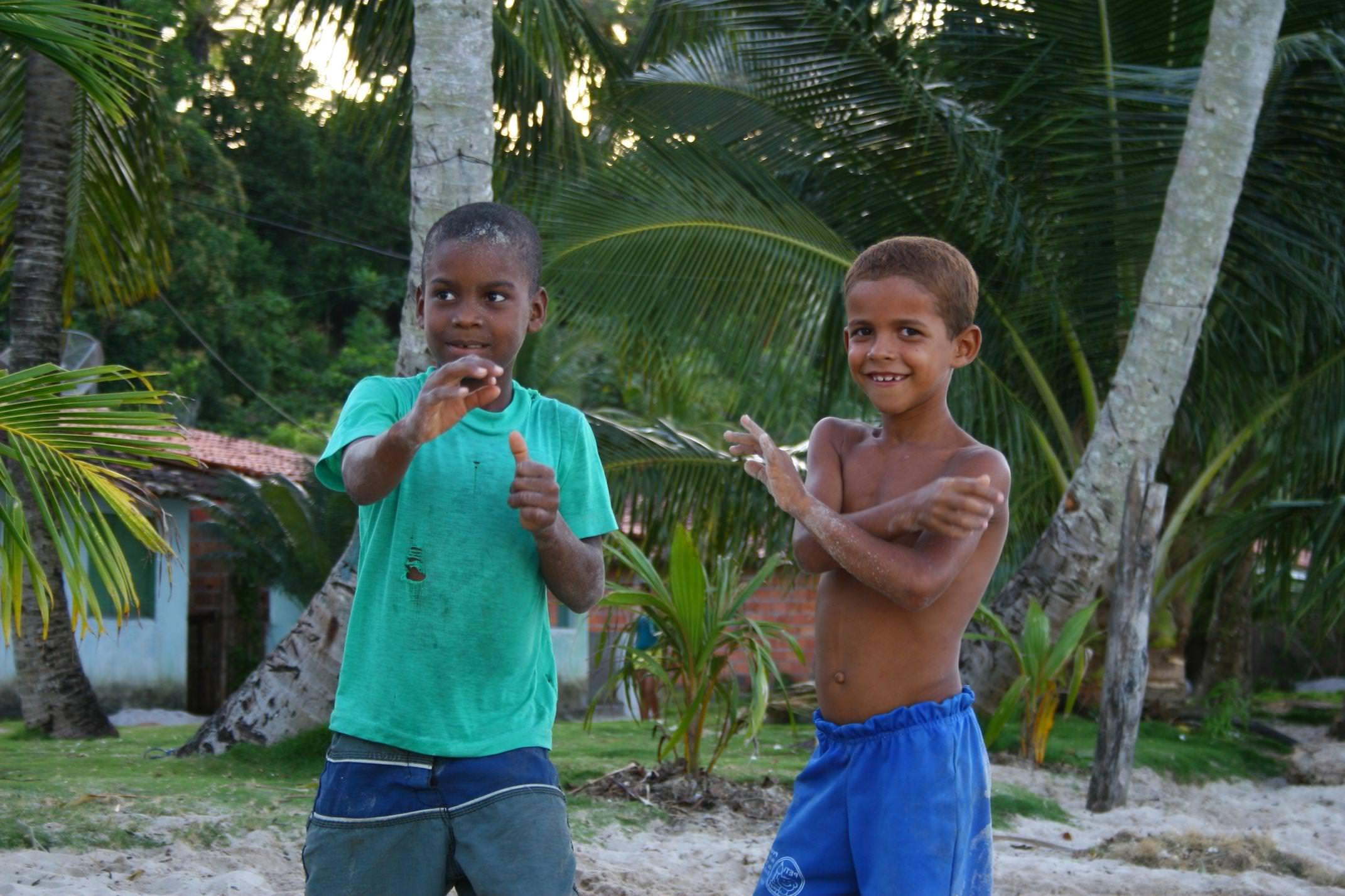 Brazil bahia boipeba island smiling children