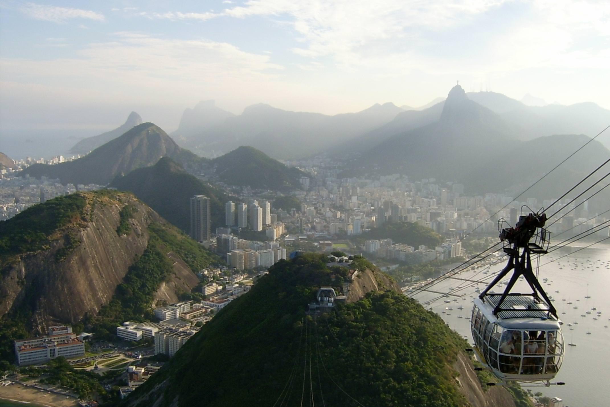 Brazil rio de janeiro cablecar up sugarloaf mountain