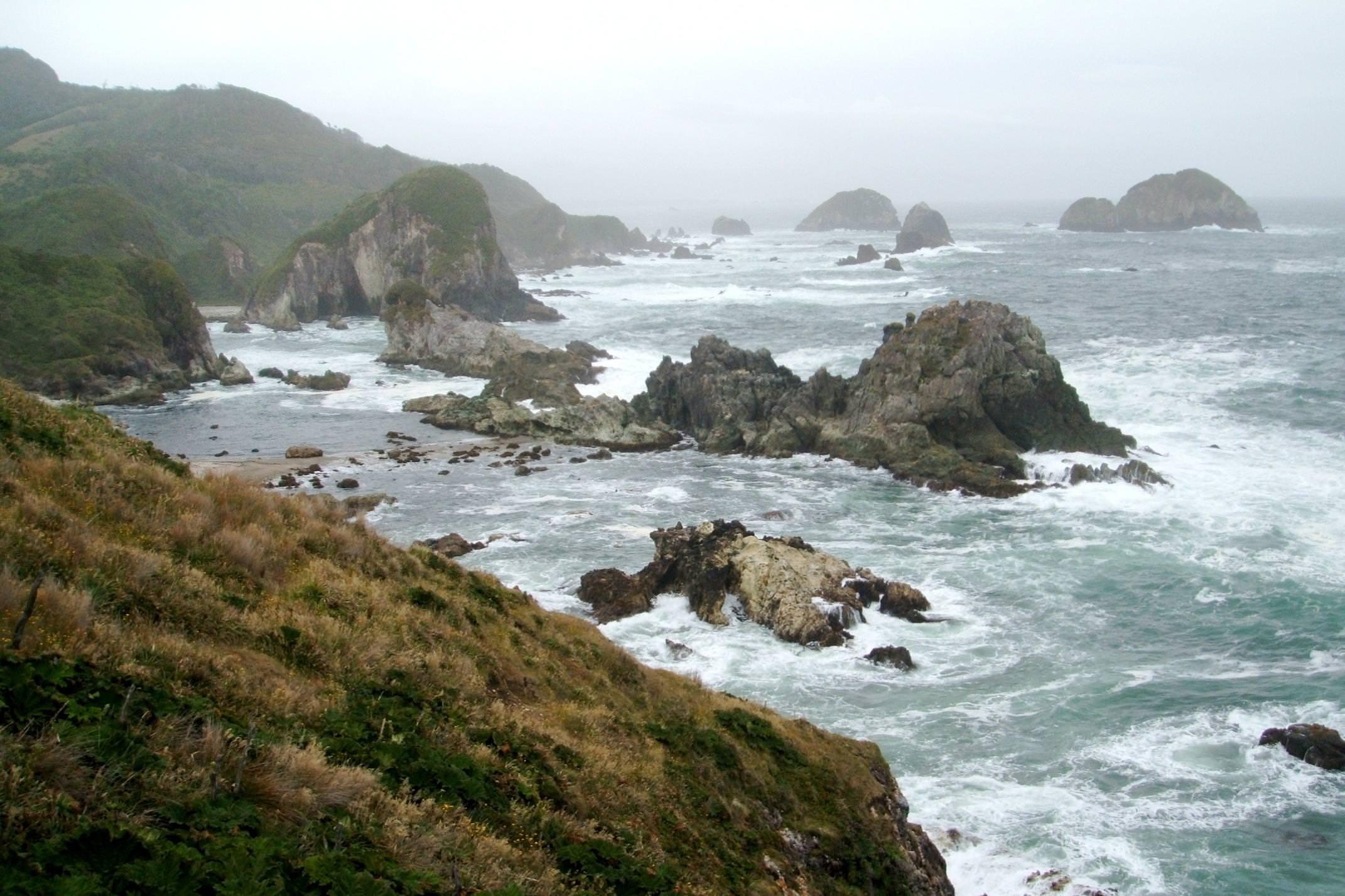 Chile chiloe grande wild coastline
