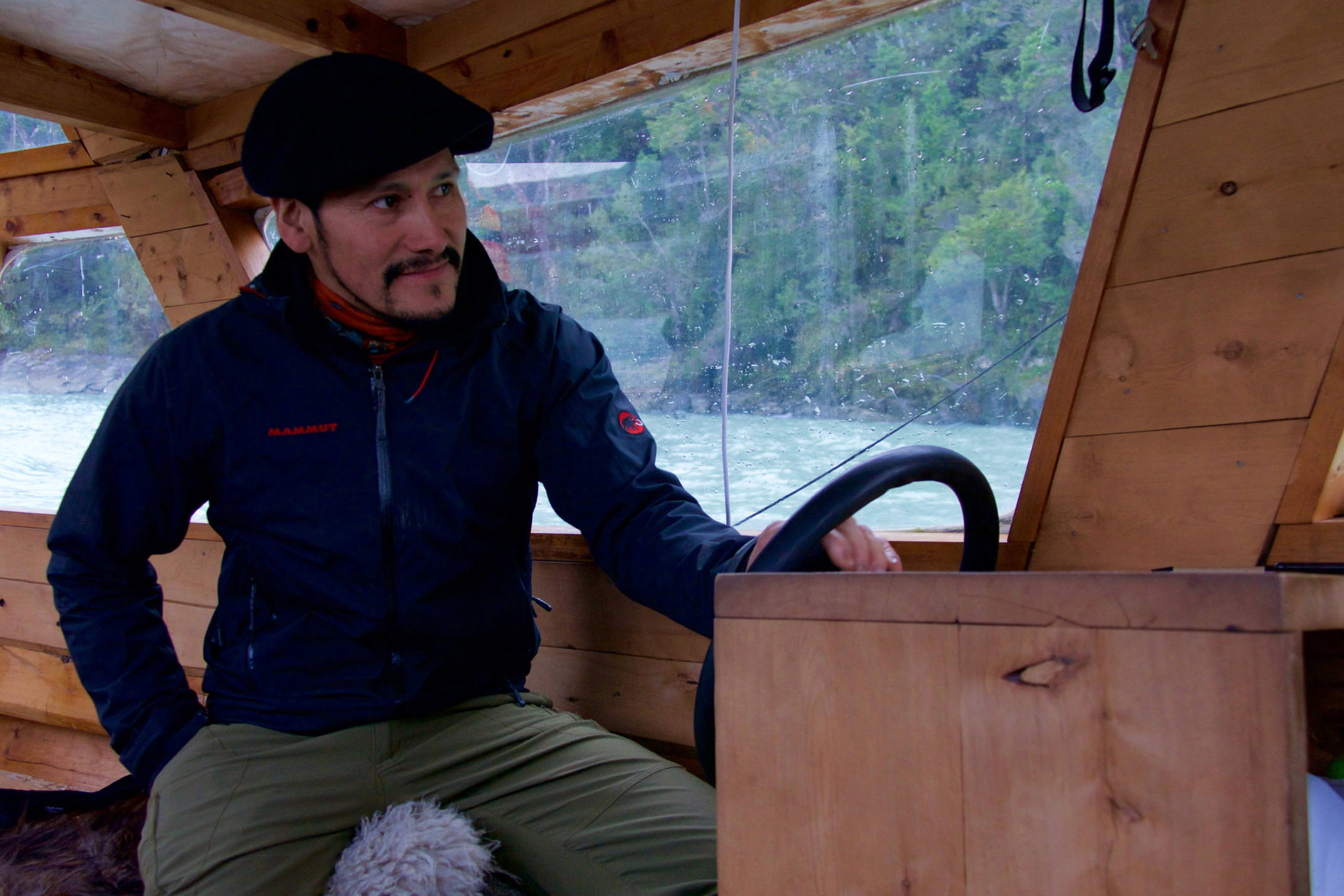 Chile patagonia aysen tortel captain of boat fjords