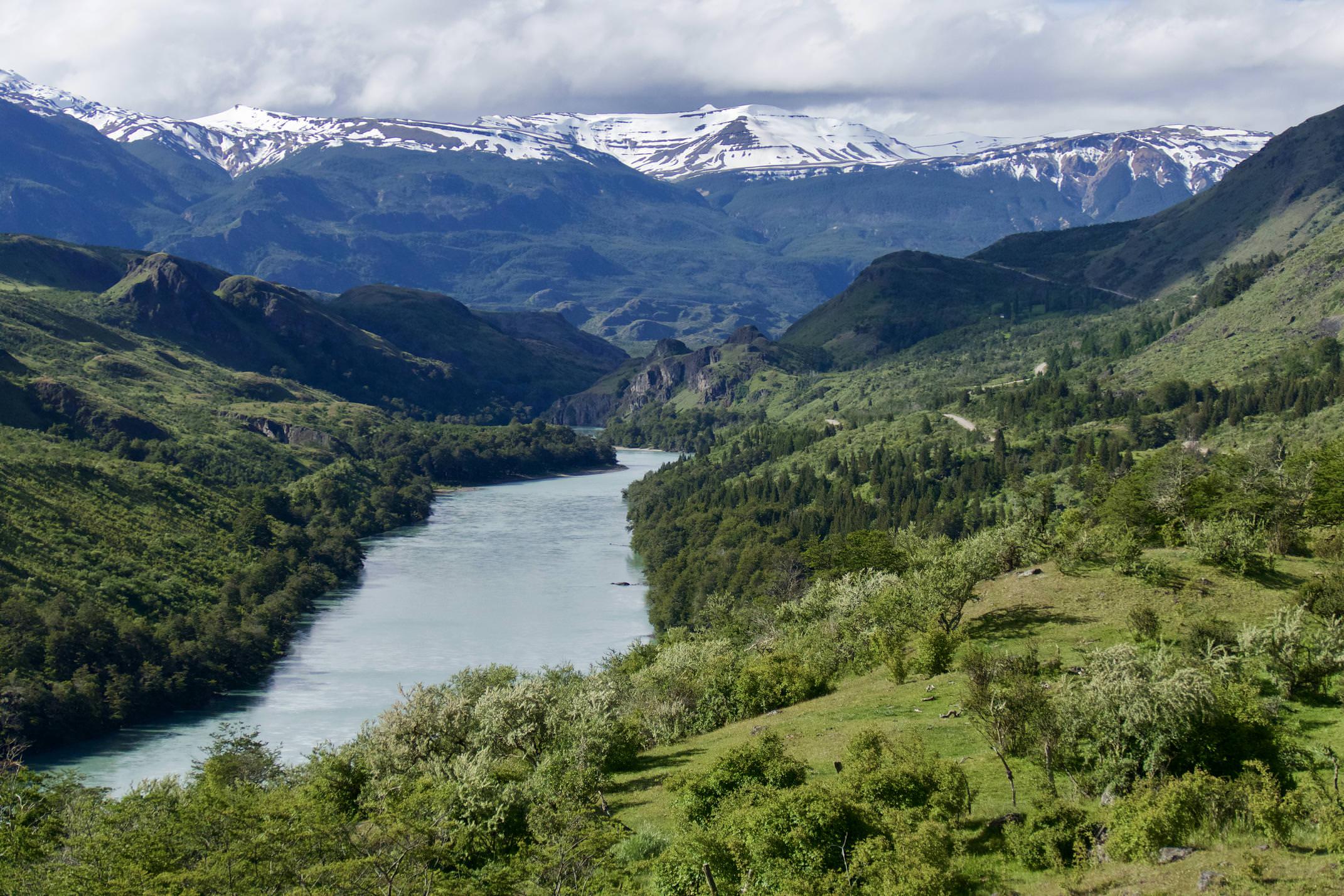 Chile patagonia carretera austral approaching cochrane