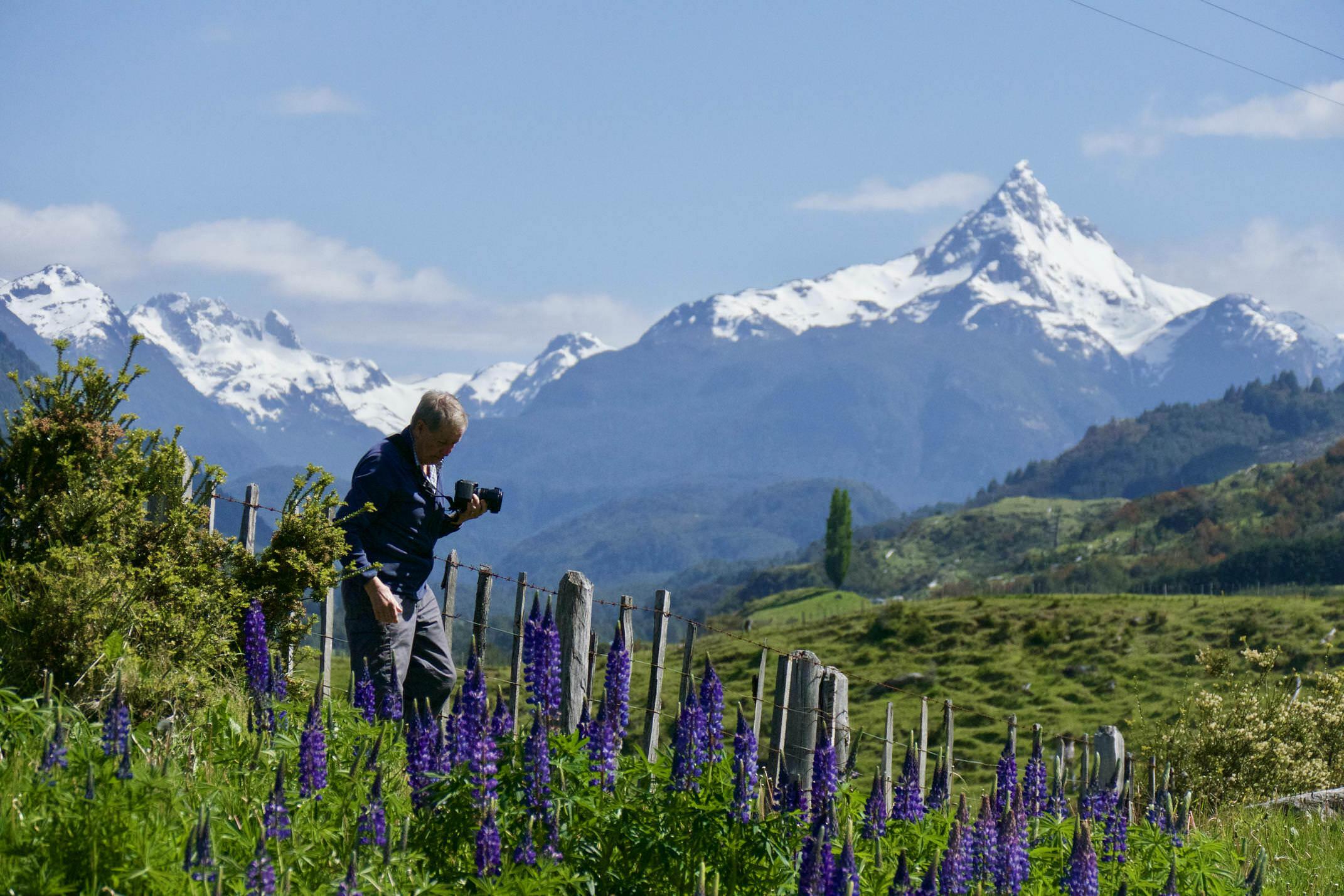 Chile patagonia carretera austral north of coyhaique photographer volcano