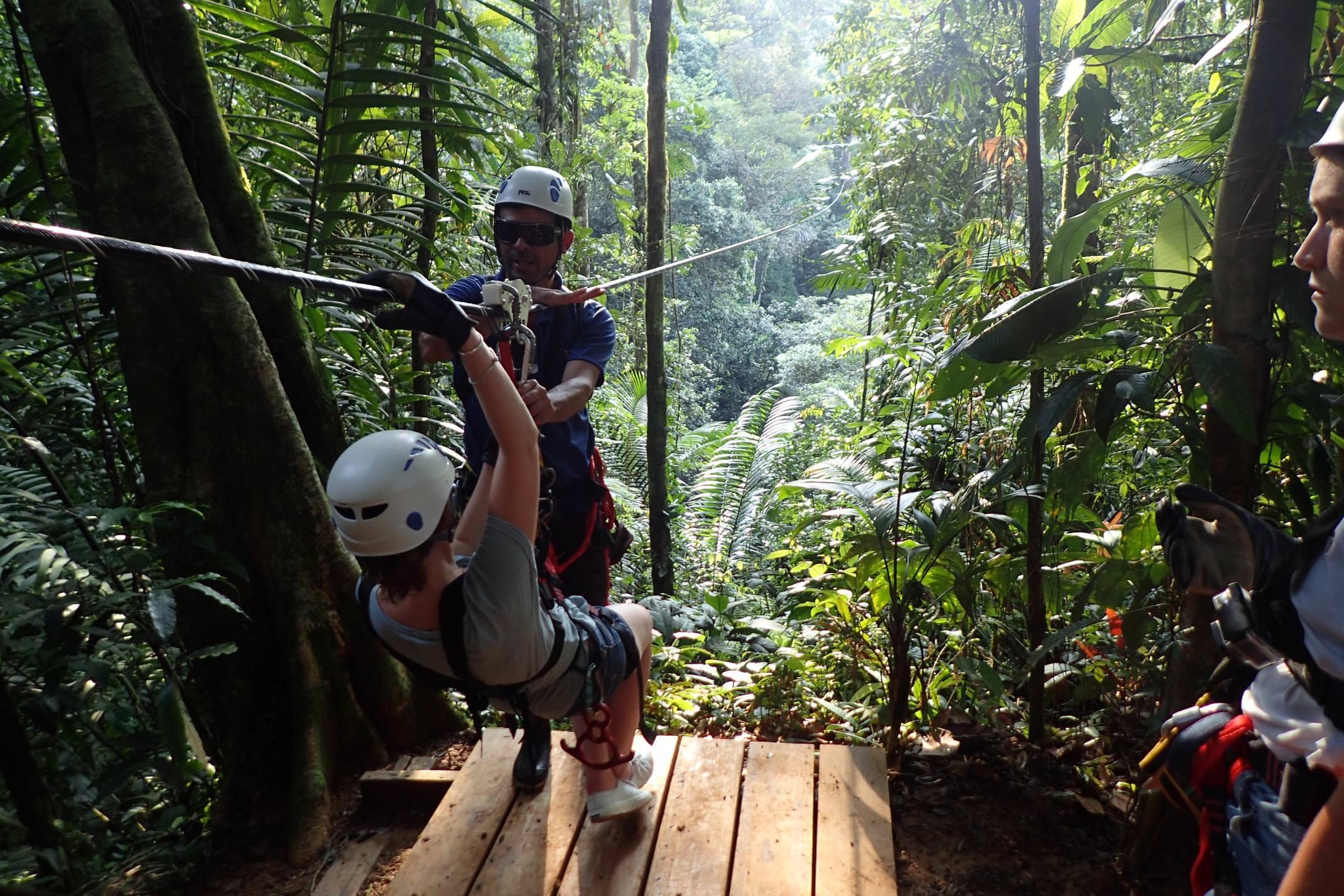 Costa rica pacuare canopy ziplining